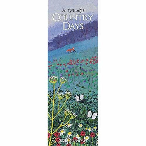 2021 Country Days Jo Grundy Slim Calendar