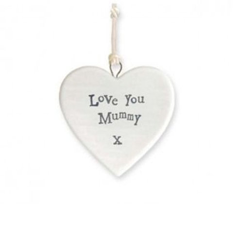 East Of India Mummy I love You Heart Decoration