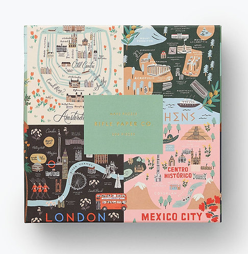 Rifle Paper Co Maps Jigsaw Puzzle