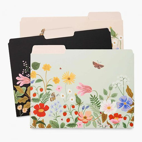 Rifle Paper Co Strawberry Fields File Folders