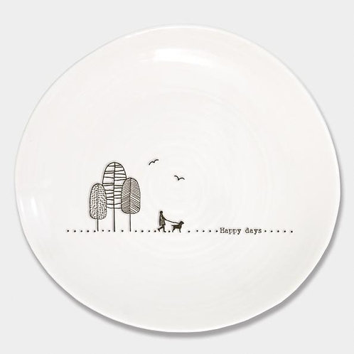 East Of India Happy Days Plate