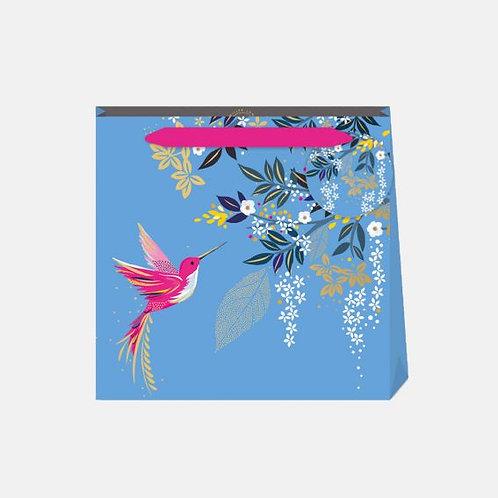 Sara Miller Small Hummingbird Blue Gift Bag