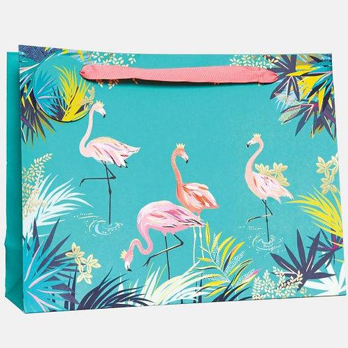 Sara Miller Large Flamingo Gift Bag
