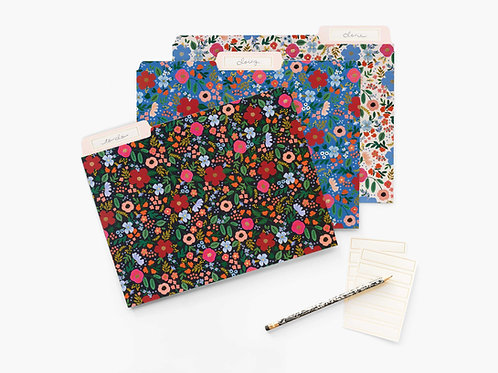 Rifle Paper Co Wild Rose File Folder Set