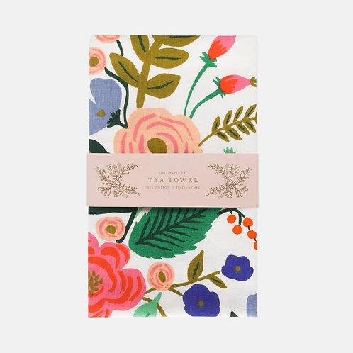 Rifle Paper Co Floral Vines Tea Towel