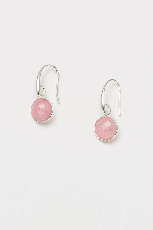 Estella Bartlett Pink Chalcedony Drop Earrings