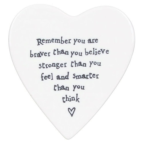 East Of India Coaster Remember You Are Braver
