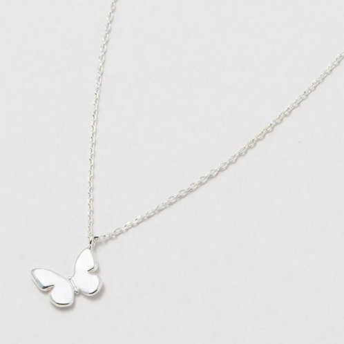Estella Bartlett Butterfly Silver Plated necklace