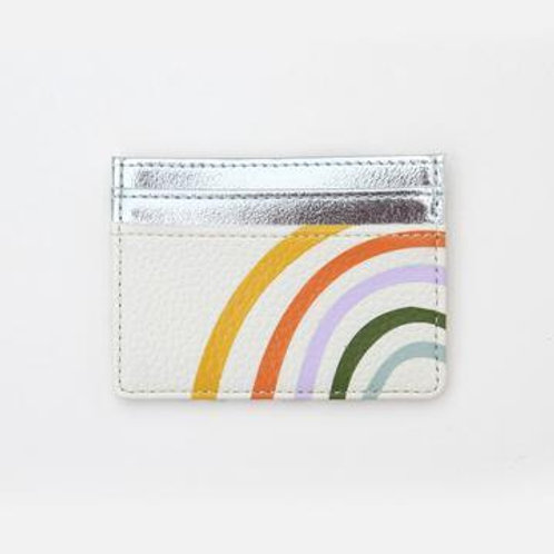 Caroline Gardener Rainbow Silver Card Holder