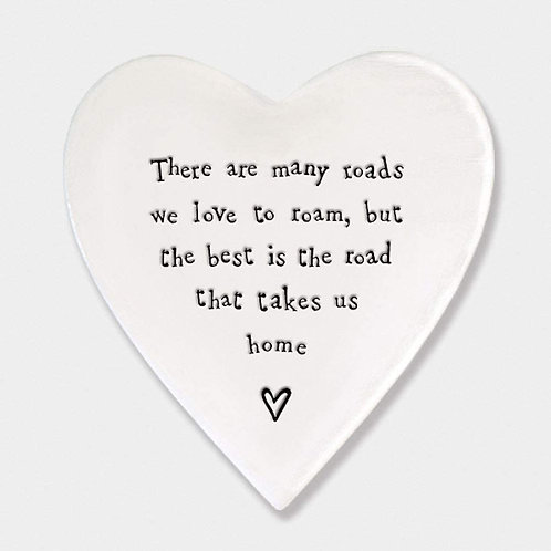 East of India Road To Home Porcelain Coaster