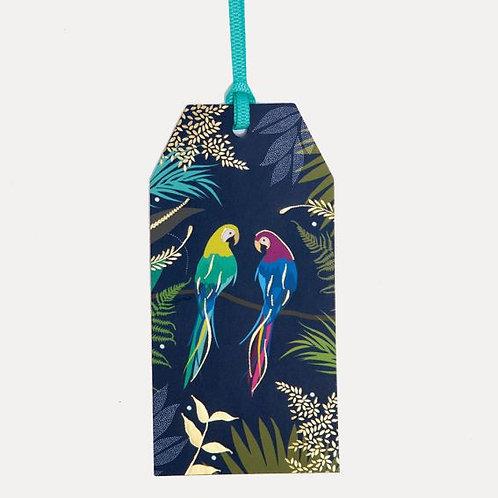 Sara Miller Parrot Blue Gift Tags Set Of 6
