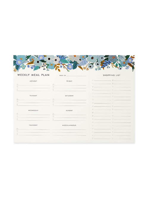 Rifle Paper Co Garden Party Meal Planner Notebook