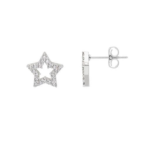 Estella Bartlett Open Star Stud Earrings