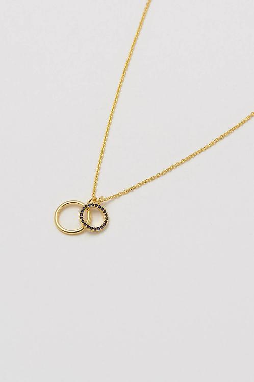 Estella Bartlett Double Circle Charm necklace