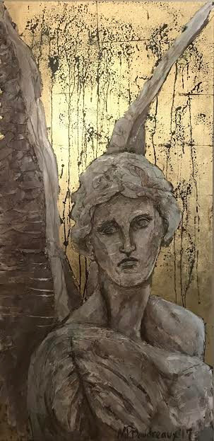 Marble Angel on Gold
