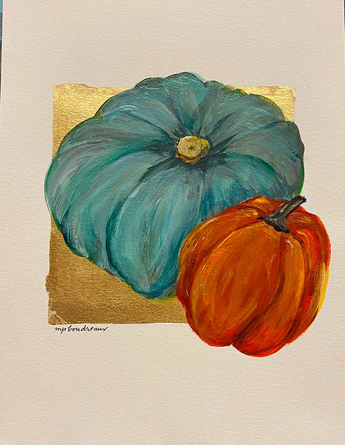 Turquoise Gourd and Pumpkin II