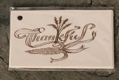 Sepia Thankful Gift Tags 10/pk