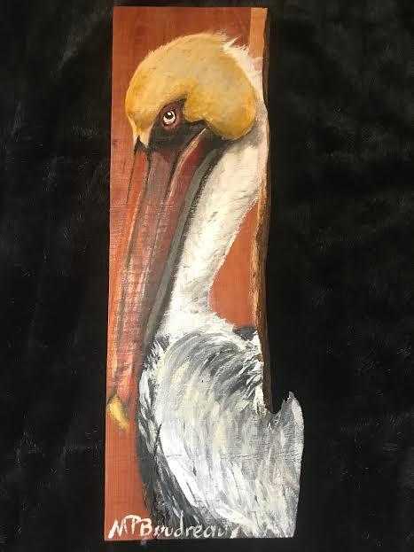 Pelican on Cedar