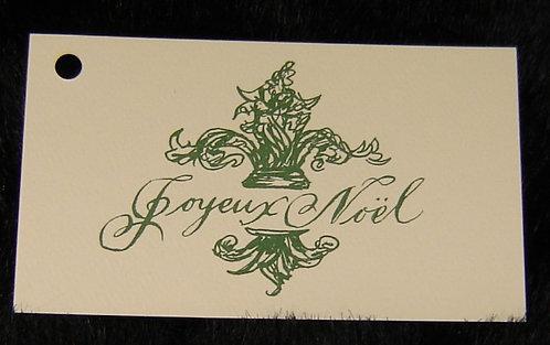 Green Joyeux Noel Sentiment Tag