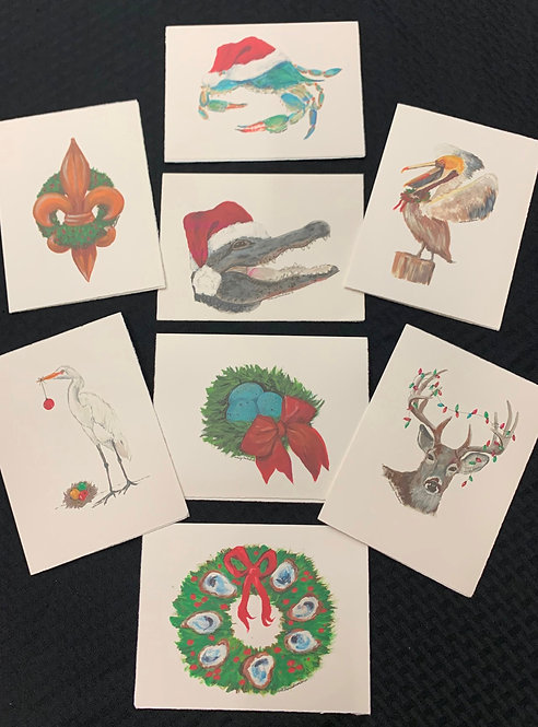 "Christmas Card 4""x 6""Assorted8Pk"