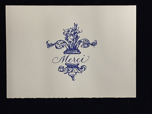 Navy Merci Stationary Set