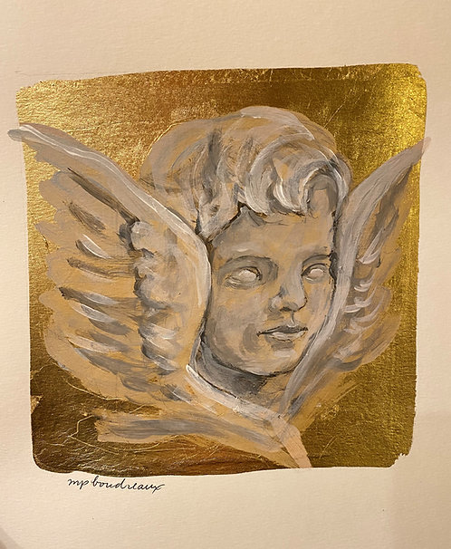 Cherub on Gold