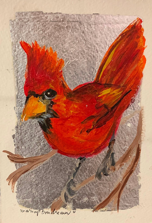 Small Cardinal on Paper
