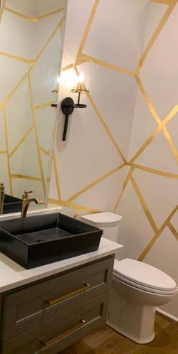 gold leaf bathroom