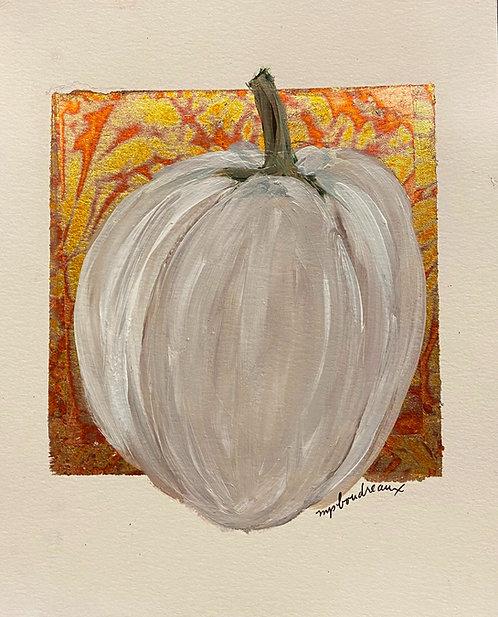 White Gourd on Multi Color Leaf II