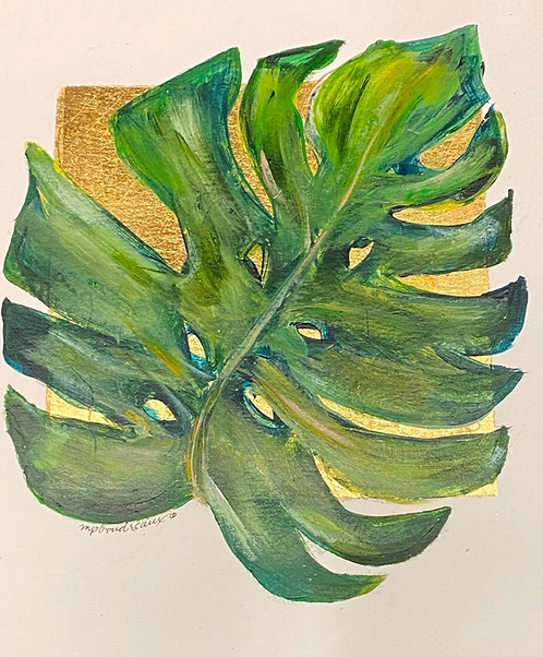 Palm Leaf on Gold