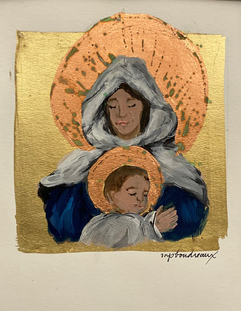 Madonna and Child 9x12 Unframed