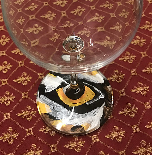 LSU Wine Glass
