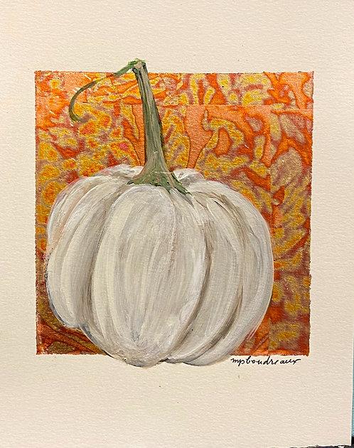 White gourd on Multi Color leaf
