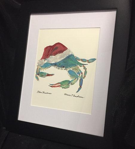 Blue Christmas Framed
