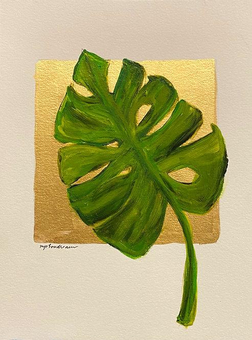 Palm leaf on Paper