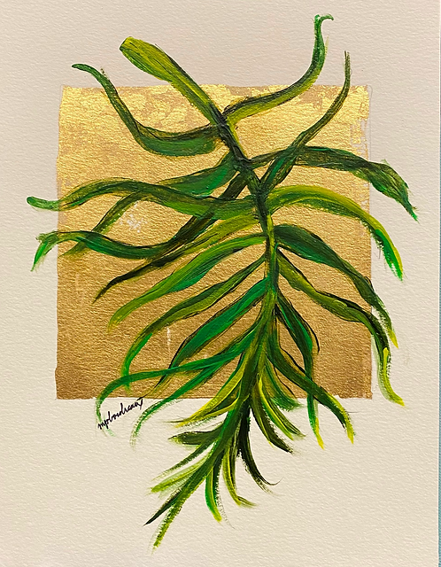 Palm Frond on Gold