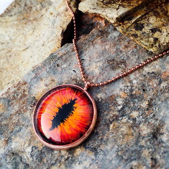 Red Dragon Eye Pendant