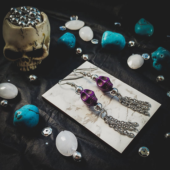 Tassel Skull Earrings
