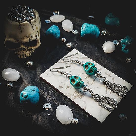 Tassel Skull Earrings