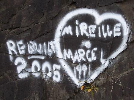 Projet Love Graffiti Project Mireille & Marcel ©ajvallee