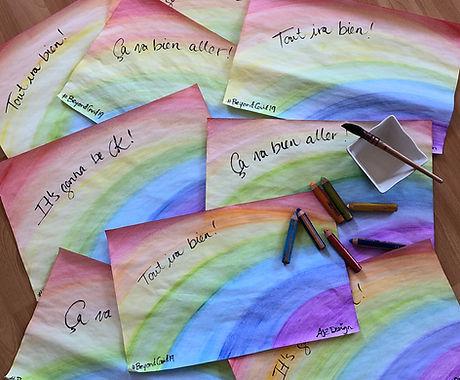Arc-en-ciel Rainbows Covid-19 Art at home ©ajvallee