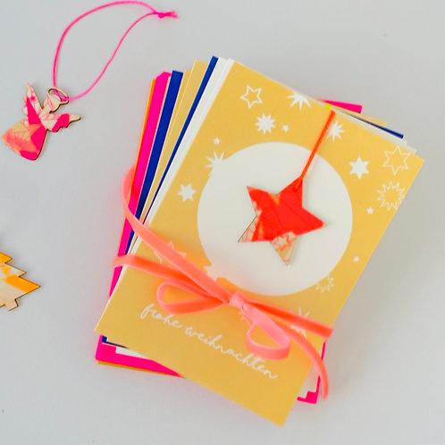 10-er Pack Weihnachtskarten Anhänger