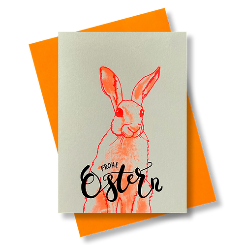 Frohe Ostern Orange
