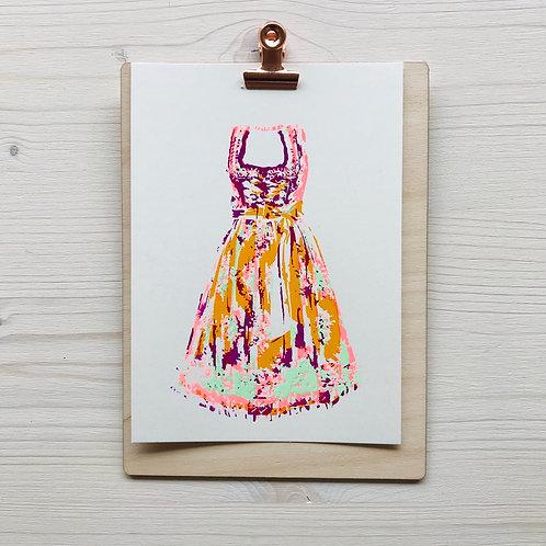 Mini.Kunstdruck Dirndl 1