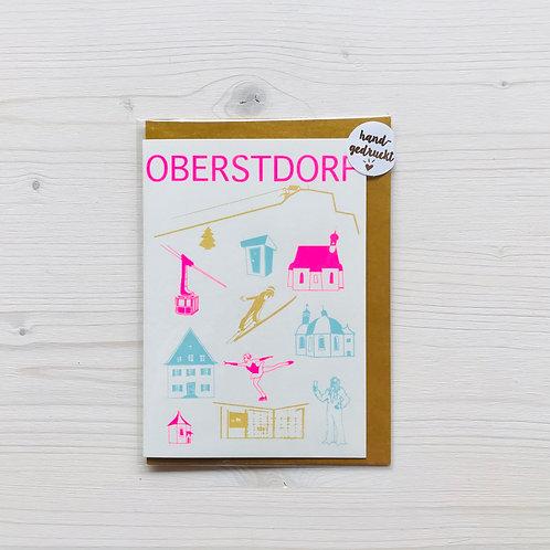 Klappkarte Icons Oberstdorf 2