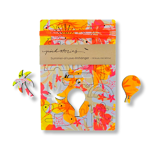 Summer-of-Love-Anhänger Jungle orange