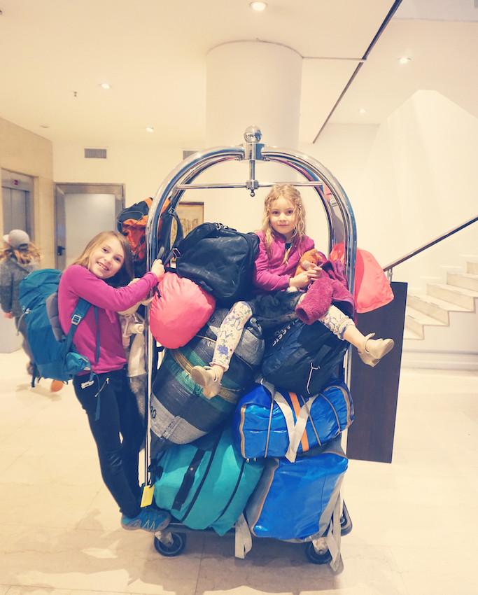 Bisschen Gepäck...