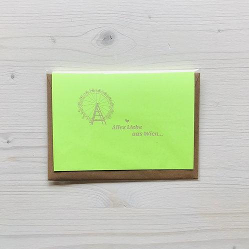 Klappkarte Lasergravur Wien