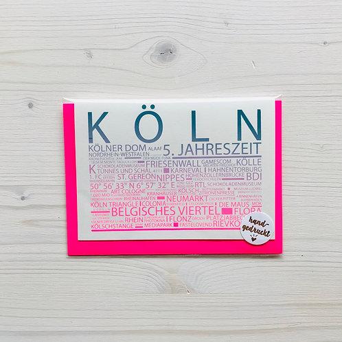 Klappkarte Highlights Köln 1