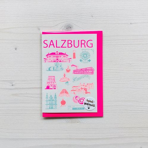 Klappkarte Icons Salzburg 5